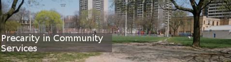precarity in community services